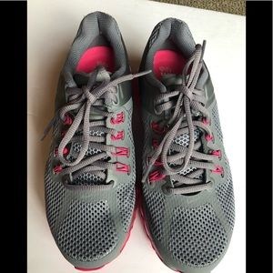 Nike fitsole women's 8 gray pink gym shoes new